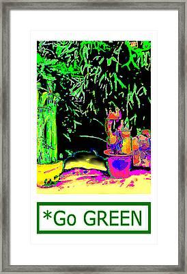 Staghorn Fern Go Green Jgibney The Museum Fineartamerica Gifts Framed Print by jGibney The MUSEUM Artist Series jGibney