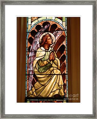 Stain Glass #1 Framed Print by Marcia Lee Jones