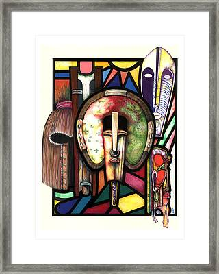 Stain Glass Framed Print by Anthony Burks Sr