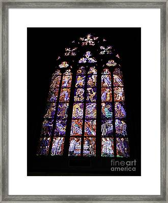Stain Glass Window Framed Print by Madeline Ellis