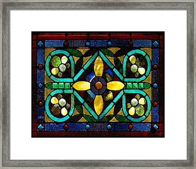 Stained Glass 1 Framed Print by Timothy Bulone
