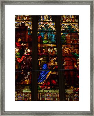 Stained Glass 3 Framed Print by Cynthia Butler