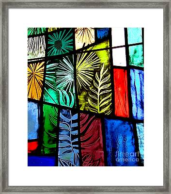 Stained Glass 3 Framed Print by Windi Rosson