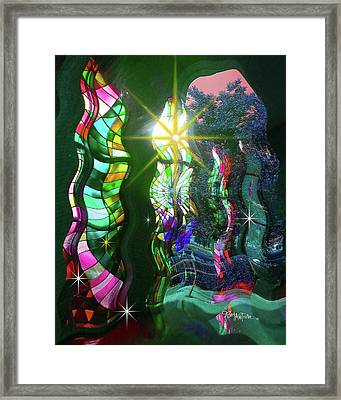 Stained Glass #4719_2 Framed Print by Barbara Tristan