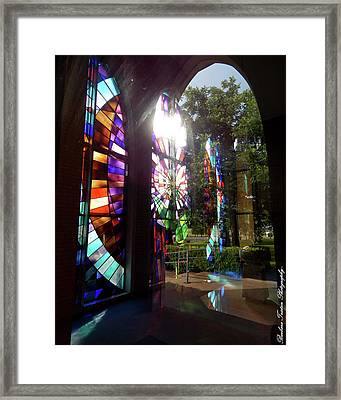 Stained Glass #4720 Framed Print by Barbara Tristan