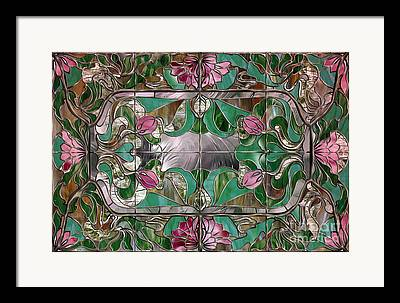 Stained Glass Panels Framed Prints