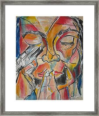 Stained Glass Assassinatiion Framed Print by Jon Baldwin  Art