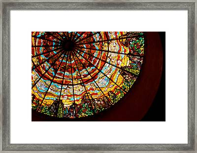 Stained Glass Ceiling Framed Print by Jerry McElroy