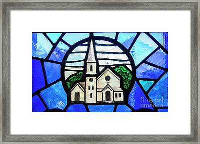 Stained Glass Church Framed Print by Juli Scalzi