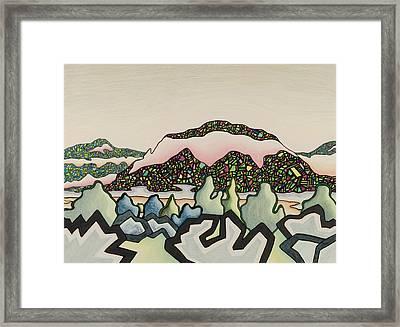 Stainglass Desert #2 Framed Print