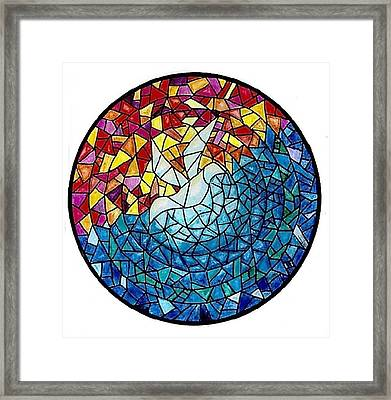 Stained Glass Dove Framed Print by Eric Petrie