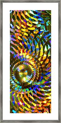 Stained Glass Fantasy 1 Framed Print by Francesa Miller
