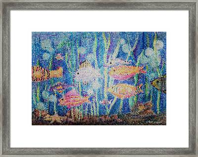 Stained Glass Fish Framed Print by Arline Wagner