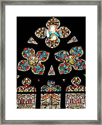 Stained Glass Glory Framed Print by Sarah Loft