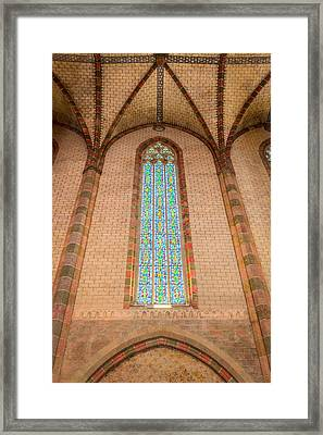 Stained Glass In The Church Of The Jacobins In Toulouse Framed Print