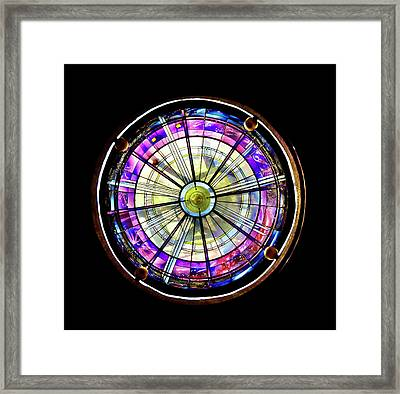 Stained Glass Framed Print by John Hix