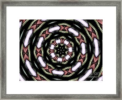Stained Glass Kaleidoscope 12 Framed Print by Rose Santuci-Sofranko