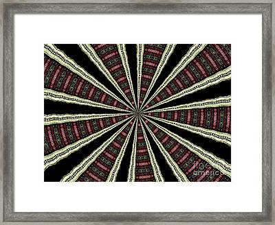 Stained Glass Kaleidoscope 14 Framed Print by Rose Santuci-Sofranko