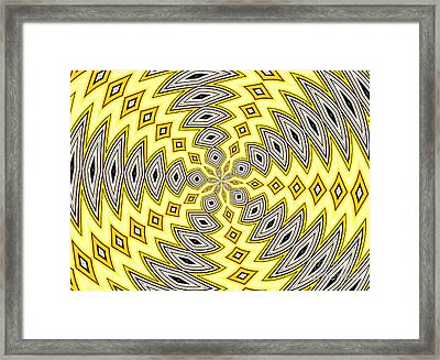 Stained Glass Kaleidoscope 18 Framed Print by Rose Santuci-Sofranko