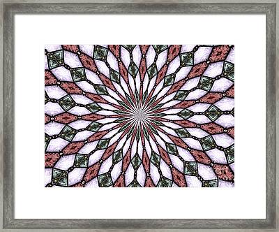 Stained Glass Kaleidoscope 2 Framed Print by Rose Santuci-Sofranko