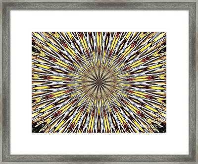 Stained Glass Kaleidoscope 22 Framed Print by Rose Santuci-Sofranko