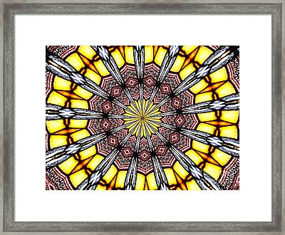 Stained Glass Kaleidoscope 23 Framed Print by Rose Santuci-Sofranko