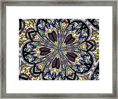 Stained Glass Kaleidoscope 38 Framed Print by Rose Santuci-Sofranko