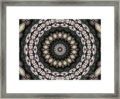Stained Glass Kaleidoscope 6 Framed Print by Rose Santuci-Sofranko