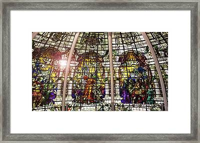 Stained Glass Framed Print by Martin Newman