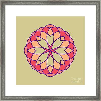 Framed Print featuring the digital art Stained Glass by Methune Hively