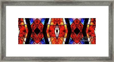 Stained Glass Panel Framed Print