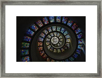 Stained Glass Pathway Framed Print