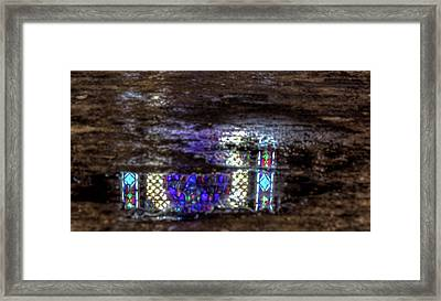 Stained Glass Reflections Framed Print