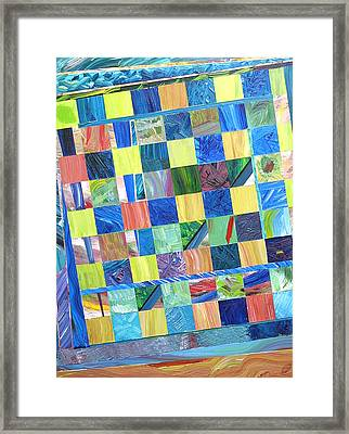 Stained Glass Sanctuary Framed Print by Eric Devan