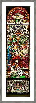 Framed Print featuring the photograph Stained Glass Scene 1 - 3 by Adam Jewell