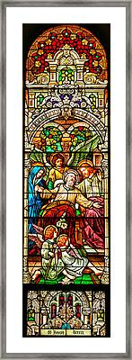 Framed Print featuring the photograph Stained Glass Scene 1 - 4 by Adam Jewell