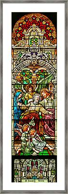 Framed Print featuring the photograph Stained Glass Scene 1 by Adam Jewell