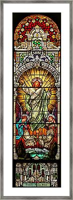 Framed Print featuring the photograph Stained Glass Scene 10 by Adam Jewell