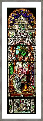 Framed Print featuring the photograph Stained Glass Scene 11 by Adam Jewell