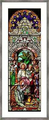 Framed Print featuring the photograph Stained Glass Scene 11 Crop by Adam Jewell