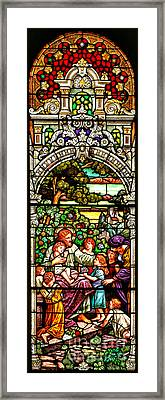 Framed Print featuring the photograph Stained Glass Scene 12 by Adam Jewell