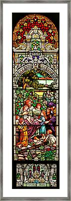 Framed Print featuring the photograph Stained Glass Scene 12 Crop by Adam Jewell