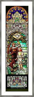 Framed Print featuring the photograph Stained Glass Scene 2 by Adam Jewell