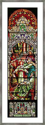 Framed Print featuring the photograph Stained Glass Scene 3 by Adam Jewell