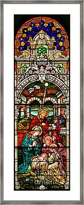 Framed Print featuring the photograph Stained Glass Scene 4 - 2 by Adam Jewell