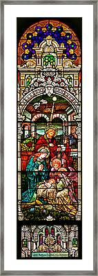 Framed Print featuring the photograph Stained Glass Scene 4 by Adam Jewell