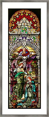 Framed Print featuring the photograph Stained Glass Scene 5 by Adam Jewell
