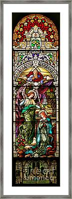 Framed Print featuring the photograph Stained Glass Scene 5 Crop by Adam Jewell