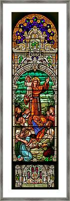 Framed Print featuring the photograph Stained Glass Scene 6 Full Size by Adam Jewell