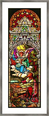 Framed Print featuring the photograph Stained Glass Scene 7 Crop by Adam Jewell